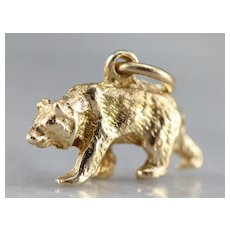 Grizzly Bear Charm Pendant