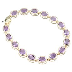 Bezel Set Amethyst Tennis Bracelet