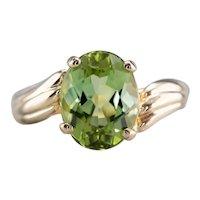 Green Tourmaline Bypass Ring