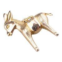 Sweet 18 Karat Gold Donkey Pendant