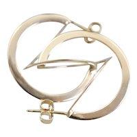 Vintage 14 Karat Gold Sculptural Drop Earrings