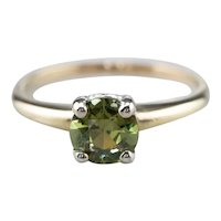 Vintage Demantoid Garnet Solitaire Ring