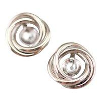 Twisting White 14 Karat Gold Earrings Jackets