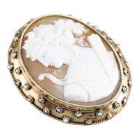 Goddess Diana Cameo Brooch Pendant