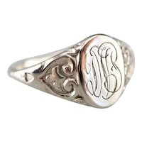"Antique ""DVB"" Monogrammed Signet Ring"