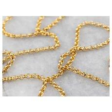 Vintage 800 19.2 Karat Gold 20 Inch Rolo Chain