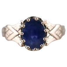 Lovely Sapphire Solitaire Upcycled Ring