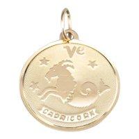 Unisex Vintage Capricorn Zodiac Pendant