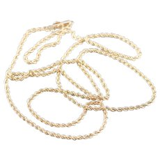 Long Unisex Rope Twist Chain Necklace