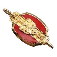 Vintage Unisex Catholic Crest Fob or Pendant