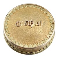 Antique Monogramed Pill Box