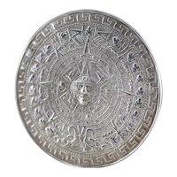 Aztec Calendar Statement Cuff Bracelet