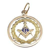 Masonic Enamel Medallion Pendant