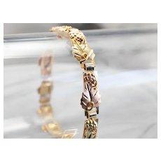 Black Hills Style Foliage Link Bracelet