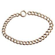 Heavy Link Vintage Unisex 14 Karat Rose Gold Bracelet