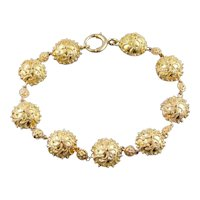 Bali Style Vintage Bracelet in Gorgeous 14 Karat Gold