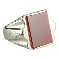 Men's Vintage Masonic Carnelian Ring