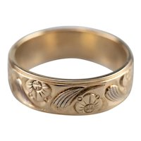 Beautifully Engraved Floral Band