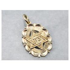 Vintage Star of David Medal Pendant