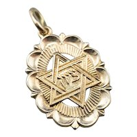 Vintage Star of David Medal Pendant