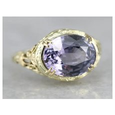 Spinel Filigree Solitaire Ring