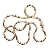 Vintage 14 Karat Gold Popcorn Chain Necklace