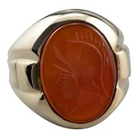 Vintage Men's Carnelian Intaglio Ring