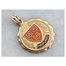 Harvard University Enameled Medallion