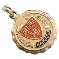 Harvard University Enameled Medallion