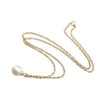 Cultured Pearl Drop Necklace