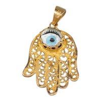 Evil Eye Hamsa Pendant