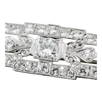 Late Art Deco Diamond Brooch