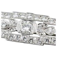 Late Art Deco Diamond Brooch
