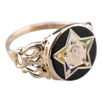 Antique Order of the Eastern Star Signet Ring