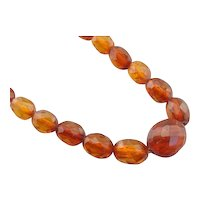 Lovely Graduated Amber Bead Necklace
