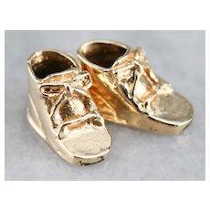 Vintage Baby Shoe Charm Pendant