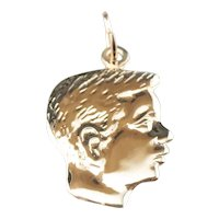 Retro Era Boy in Profile Pendant