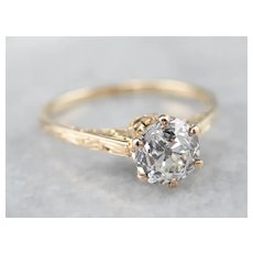 Vintage Diamond Solitaire Engagement Ring