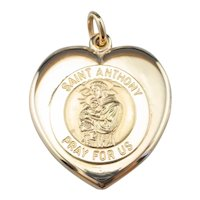 Antique Saint Anthony Monogrammed Locket