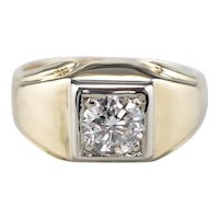 Retro Diamond Men's Ring