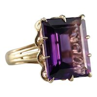 Vintage Amethyst Cocktail Ring