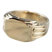Men's Retro Era Signet Ring