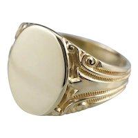 Ornate Victorian Era Signet Ring