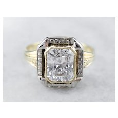 Stunning Art Deco Diamond Solitaire Ring