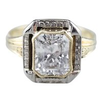 Stunning Art Deco Diamond Solitaire Ring