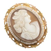 Antique Cam & Co Cameo Brooch