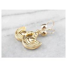 Vintage 14 Karat Gold Drop Earrings
