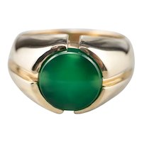 Men's Retro Era Green Onyx Ring