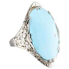 Lovely Turquoise Filigree Ring
