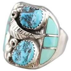 Native American Chunky Turquoise Men's Ring